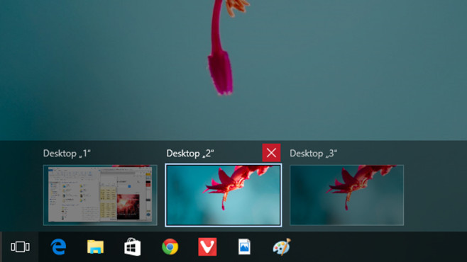 Windows + Strg + F4: Virtuelle Desktops schließen ©COMPUTER BILD