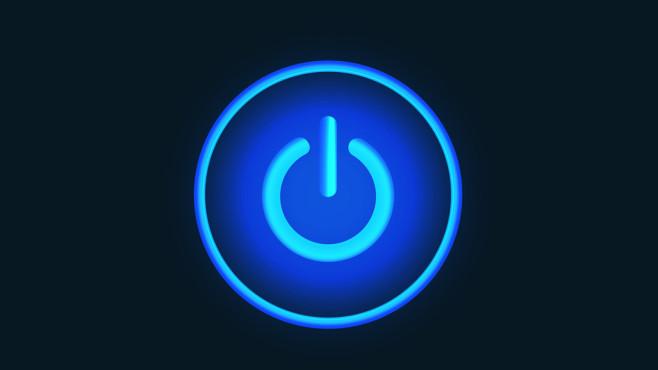 Windows 7/8/10: Das passiert beim Herunterfahren Das Herunterfahren ist oft schnell erledigt, also passiert dabei wenig? Irrtum – COMPUTER BILD klärt auf.©Fotolia--T-flex-Blue neon vector button