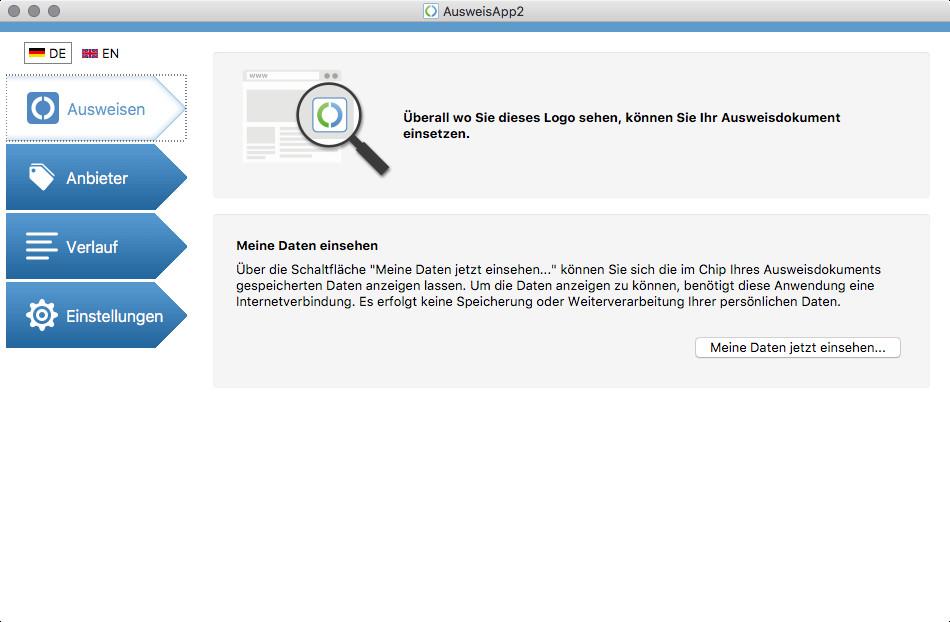 Screenshot 1 - AusweisApp2 (Mac)