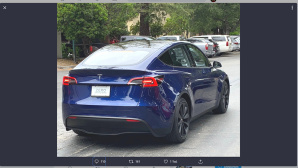 Tesla Model Y©Tesla / ChargePoint / Twitter