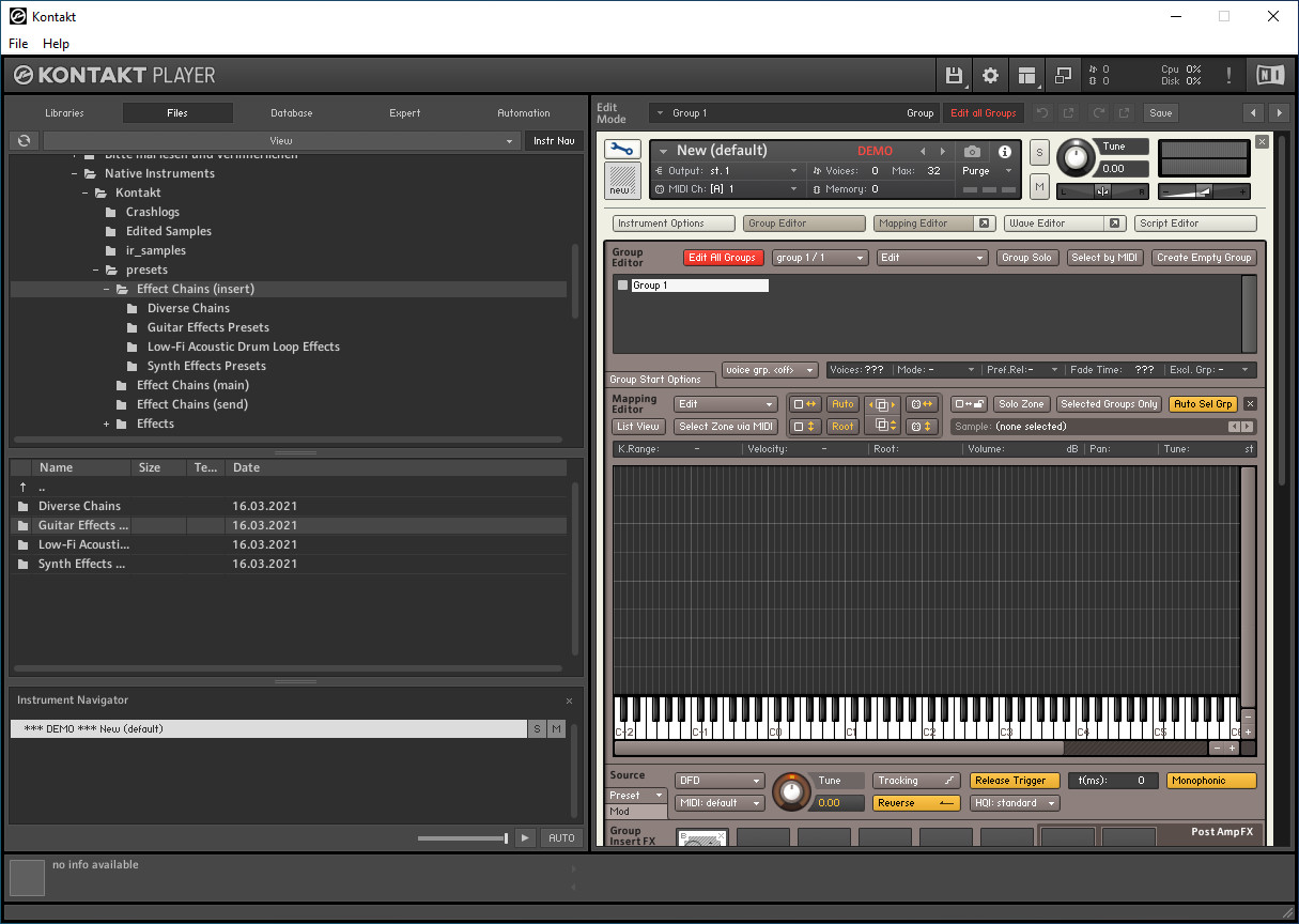 Screenshot 1 - Kontakt 6 Player