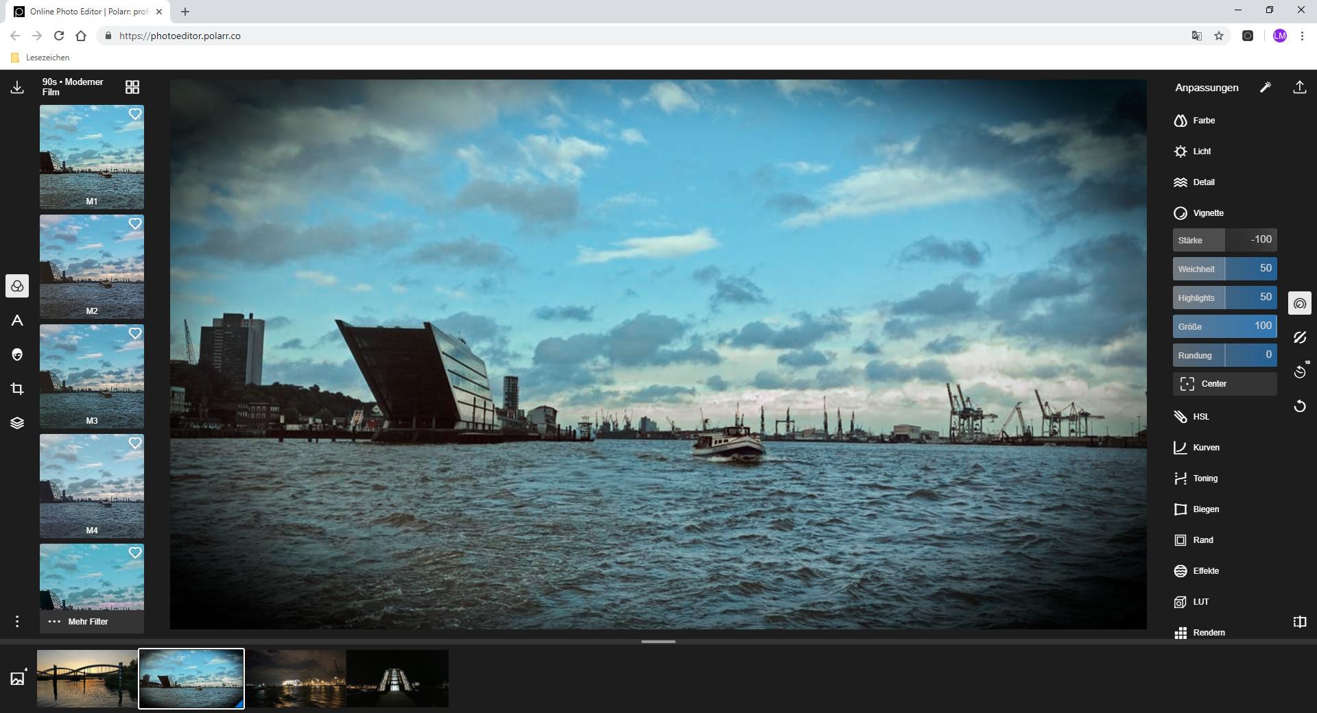 Screenshot 1 - Polarr Photo Editor für Chrome