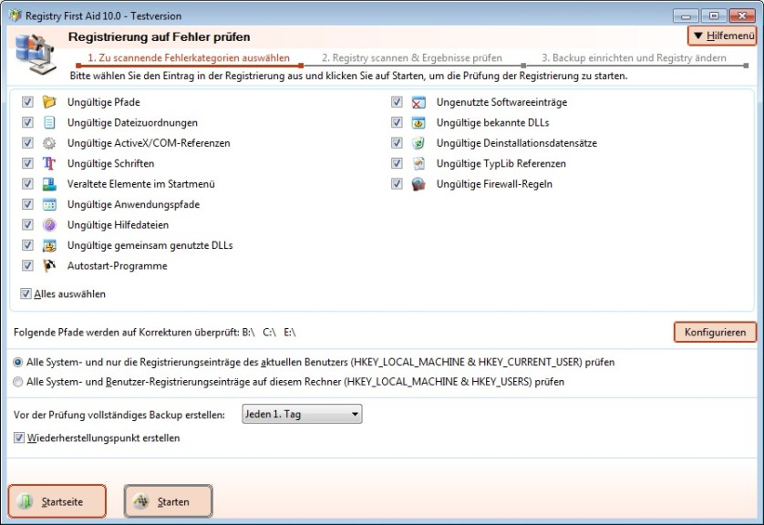 Screenshot 1 - Registry First Aid