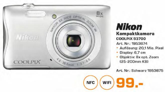 Nikon COOLPIX S3700 ©Saturn