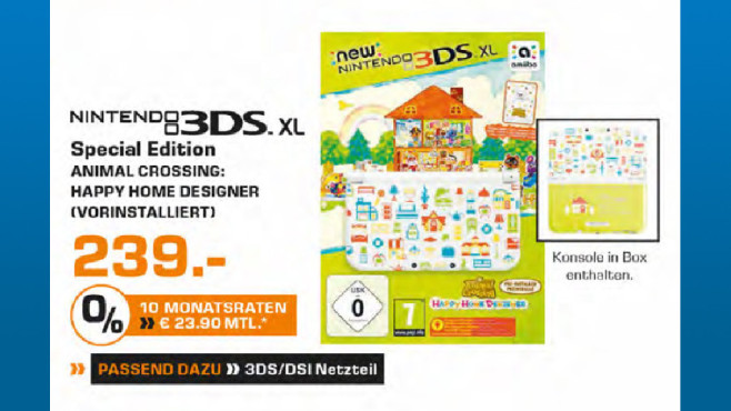 Nintendo 3DS XL Animal Crossing: New Leaf - Special Edition ©Saturn