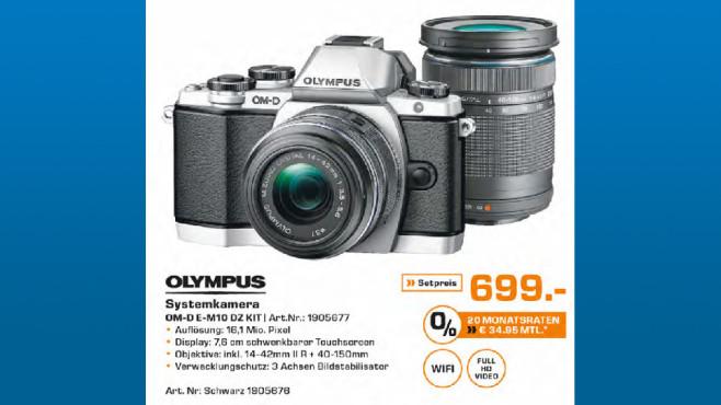 Olympus OM-D E-M10 Kit 14-42 mm II R + 40-150 mm ©Saturn