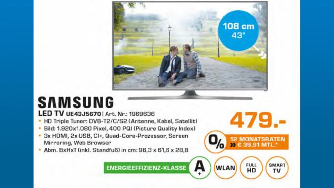 Samsung UE43J5670 ©Saturn