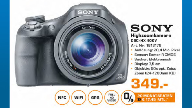 Sony Cyber-shot DSC-HX400 ©Saturn