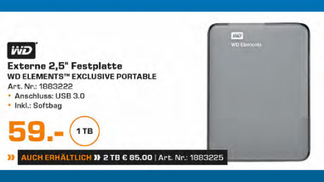 Western Digital Elements Portable Exclusive Edition 1TB ©Saturn