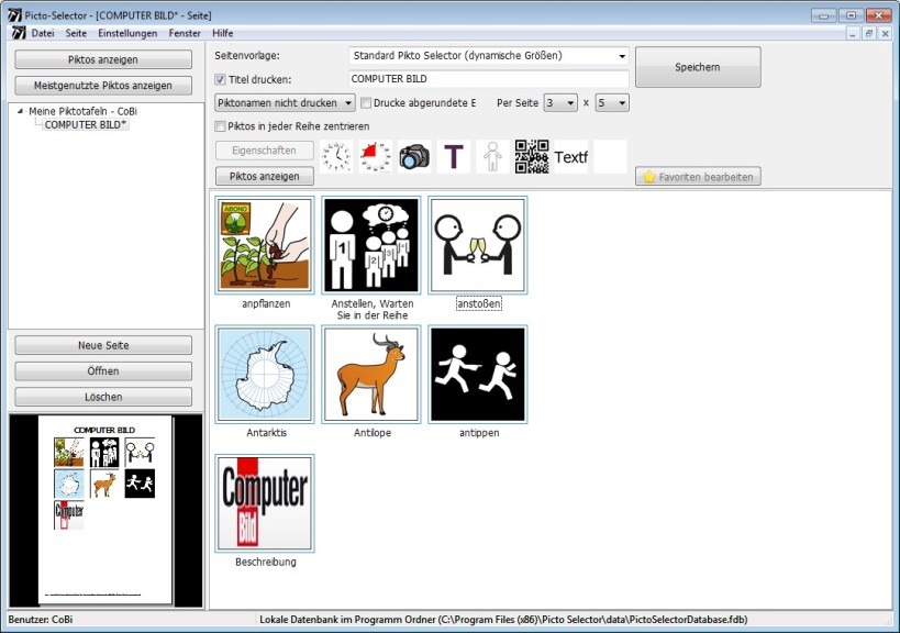 Screenshot 1 - Picto Selector