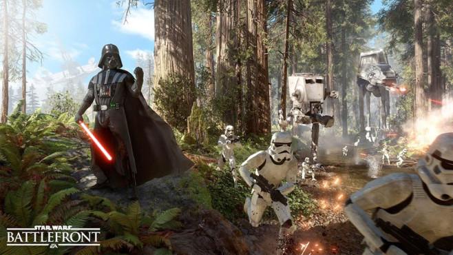 Star Wars - Battlefront: Darth Vader und die Stormtrooper©Electronic Arts