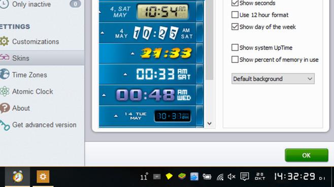 Free Desktop Clock: Exakte Uhrzeit-Anzeige ©COMPUTER BILD