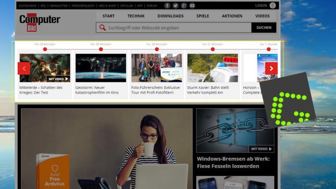 Greenshot: Screenshots direkt ins Web laden ©COMPUTER BILD
