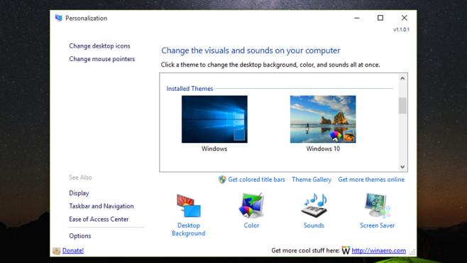 Personalization Panel for Windows 10: Systemfunktionen flotter finden ©COMPUTER BILD
