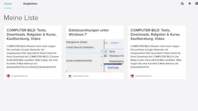 Save to Pocket für Chrome: Spannende Webseiten vormerken ©COMPUTER BILD