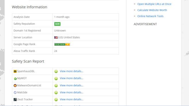 URLVoid: Webseiten-Sicherheit schnell beurteilen ©COMPUTER BILD