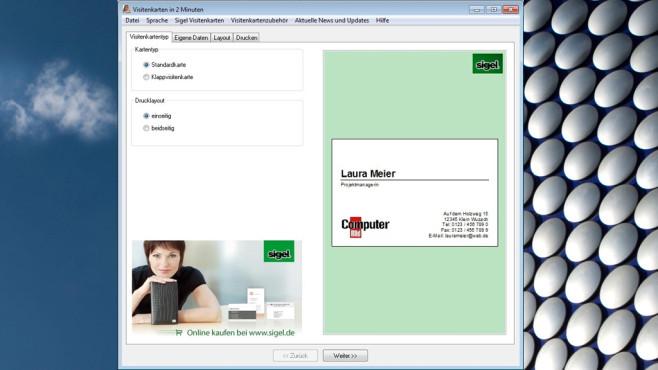 Visitenkarten in 2 Minuten: Aushängeschild ohne Komplikationen ©COMPUTER BILD