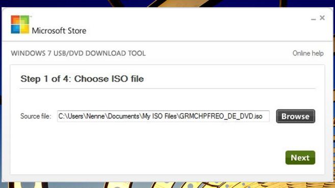 Windows USB/DVD Download Tool: System vom Stick neu installieren ©COMPUTER BILD