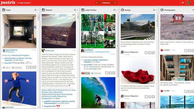 Postris für Instagram©Screenshot: postr.is