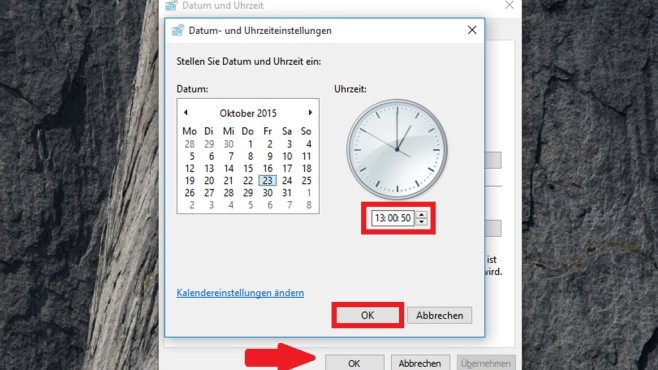 Uhrzeit manuell umstellen (3) ©COMPUTER BILD