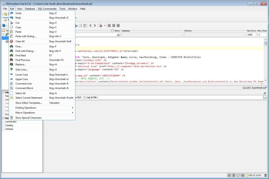 Screenshot 1 - DbVisualizer Portable