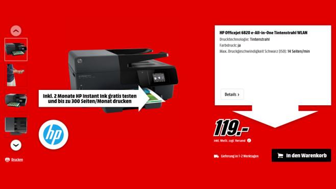 HP Officejet Pro 6820 ©Media Markt