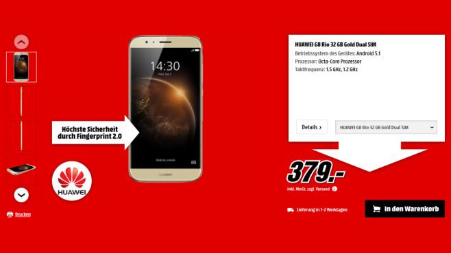 Huawei G8 Dual Sim ©Media Markt