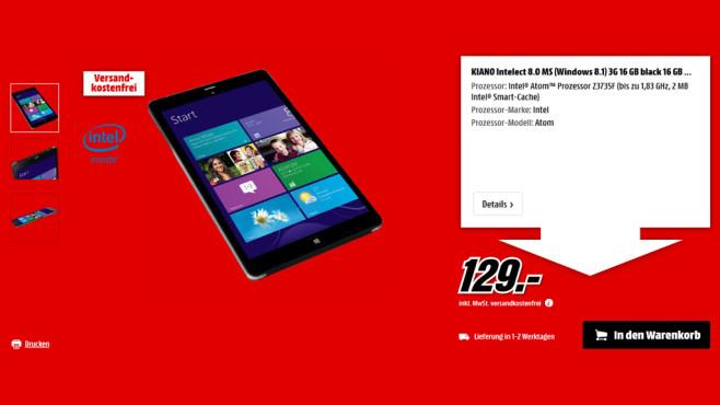 Kiano Intelect 8 16GB ©Media Markt
