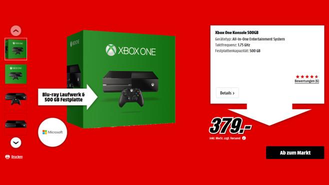 Microsoft Xbox One 500GB ©Media Markt