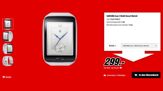 Samsung Gear S ©Media Markt