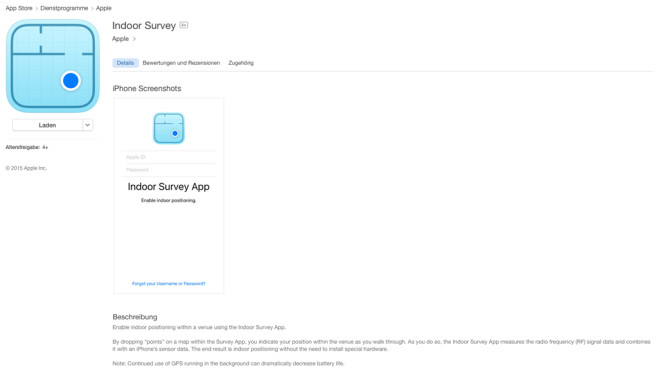 Apple Indoor Survey © Apple