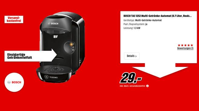 Bosch TAS 1252 ©Media Markt