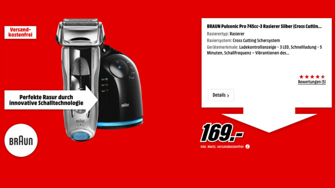 Braun Pulsonic Pro 745cc-3 ©Media Markt