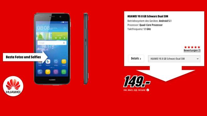 Huawei Y6 8GB ©Media Markt