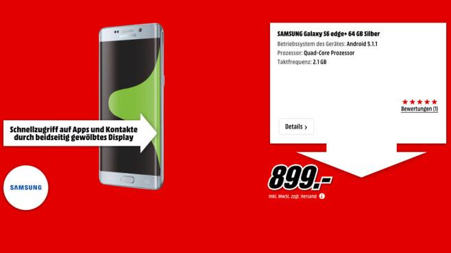 Samsung Galaxy S6 Edge+ 64GB ©Media Markt
