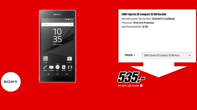 Sony Xperia Z5 Compact 32GB ©Media Markt