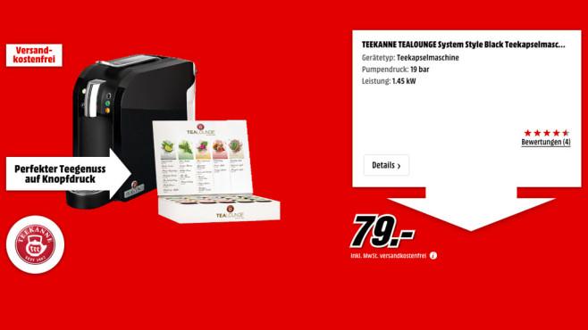 Teekanne Tealounge System Style Black ©Media Markt