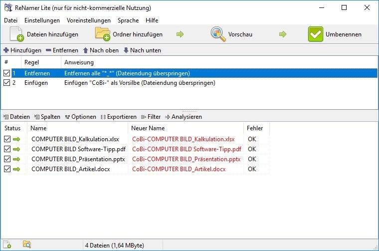 Screenshot 1 - ReNamer Lite