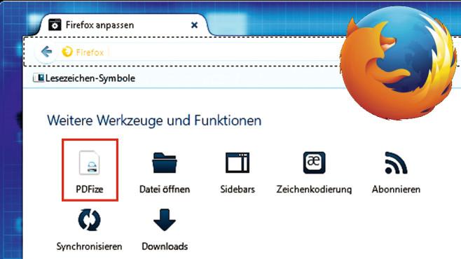 Internetseite als PDF sichern ©Mozilla, Montage: COMPUTER BILD