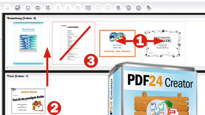 PDFs trennen und verbinden ©Geek Software, Montage: COMPUTER BILD