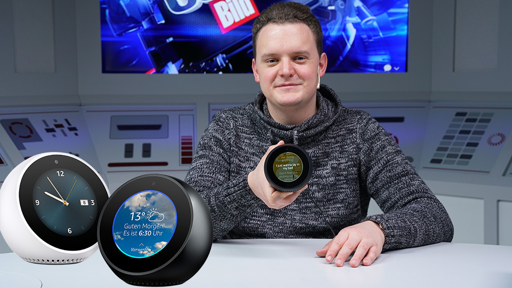 Amazon Echo Spot Alexa Box Im Test Computer Bild