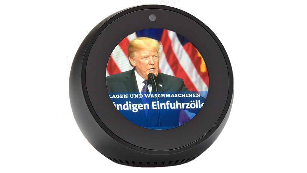 amazon echo spot alexa box im test computer bild. Black Bedroom Furniture Sets. Home Design Ideas