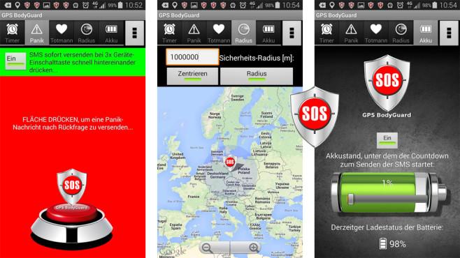 "SOS-Notruf ""GPS BodyGuard"" ©Fractal-Media"