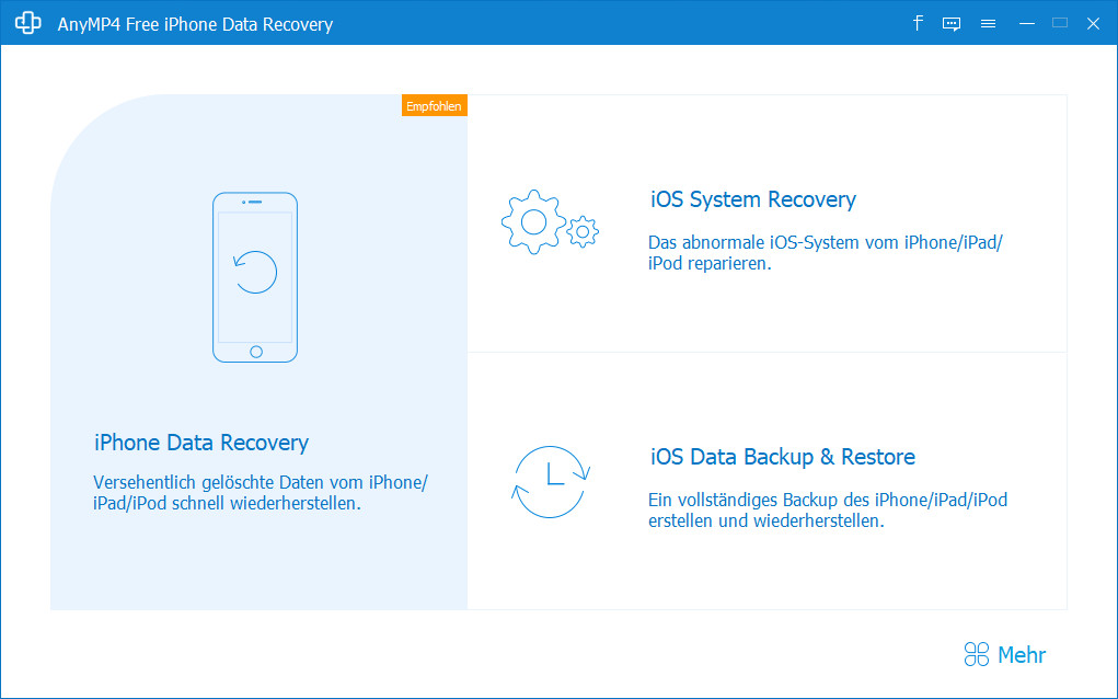 Screenshot 1 - Free iPhone Data Recovery