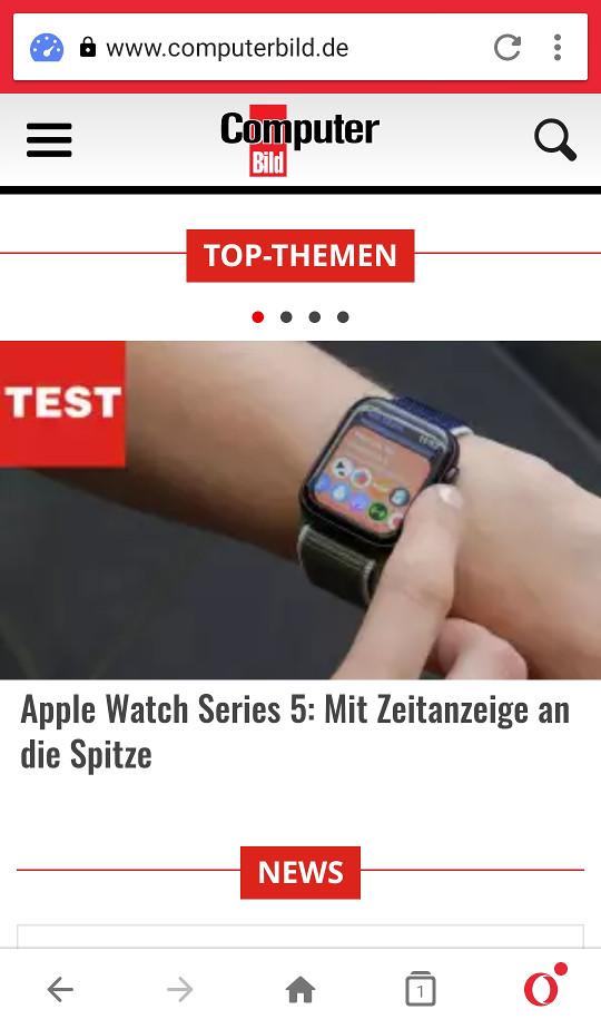 Screenshot 1 - Opera Mini (Android-App)