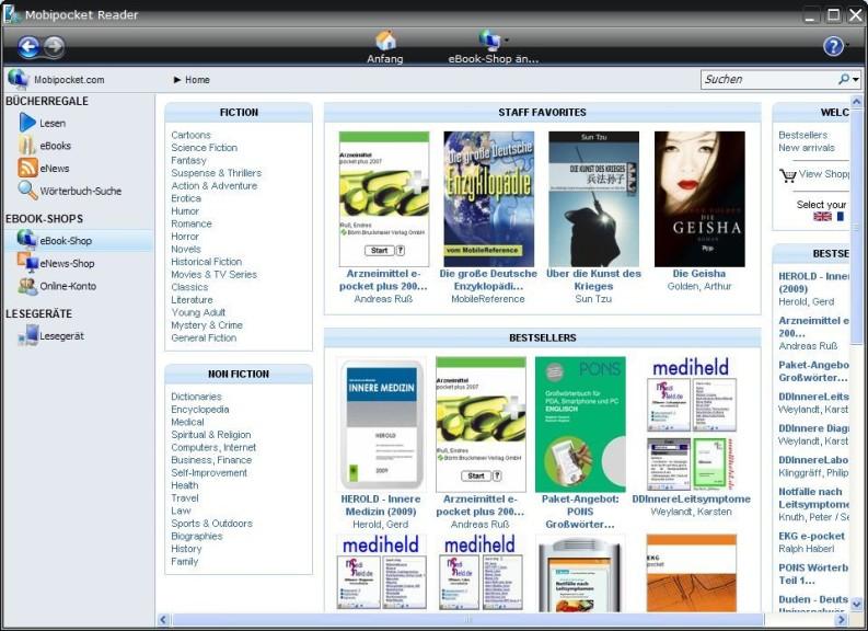 Screenshot 1 - Mobipocket Reader