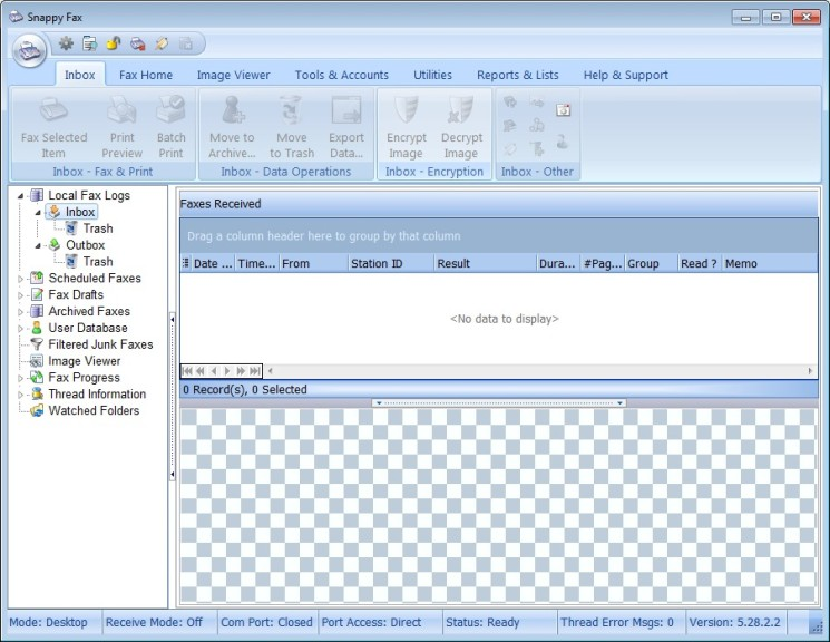 Screenshot 1 - Snappy Fax