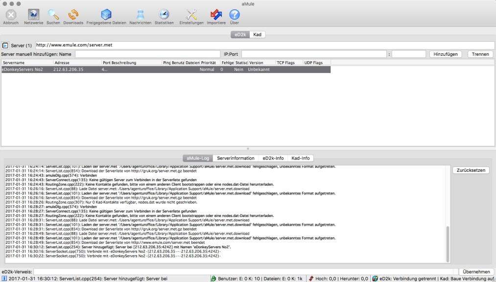 Screenshot 1 - aMule (Mac)