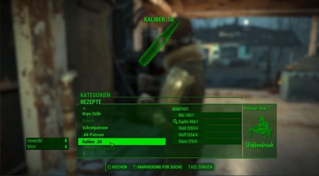 Fallout 4 Craftable Ammo ©Bethesda/kr1ck/Nexus Mods