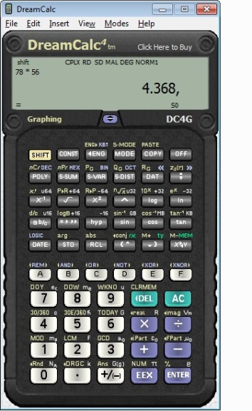 Screenshot 1 - DreamCalc Graphing Edition